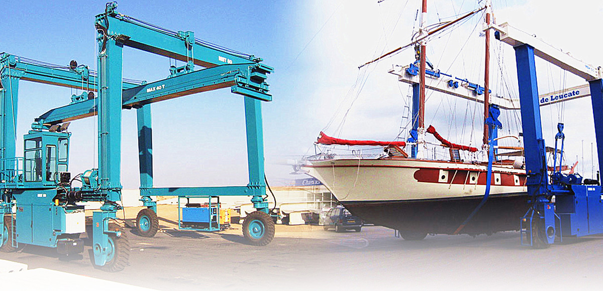Mobile Gantry Crane, Boat Hoist Project